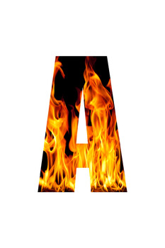 Burning Flame Letters: Vowels