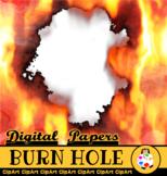 Burning Hole Digital Paper Borders