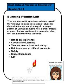 Burning Peanut Lab: Energy Content in Foods