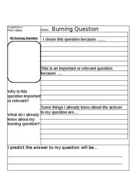 Research Question Brainstorm