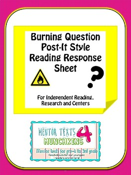 Questioning Reading Workshop Response Sheet