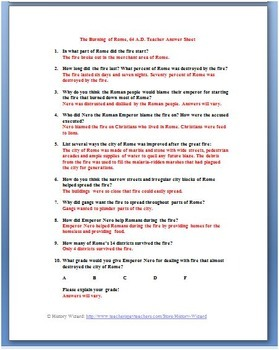Rome Primary Source Worksheet: Burning of Rome 64 A.D.
