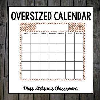 Burnt Orange - Oversize Calendar