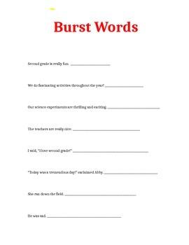 Burst Words