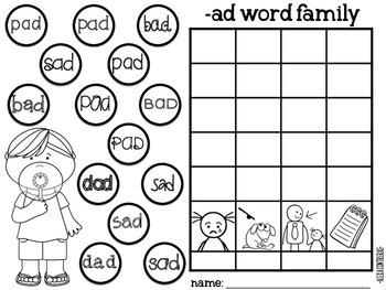 Bursting Bubbles {Graphing CVC Word Families}