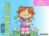 Bursting Bubbles {Graphing CVC Word Families}