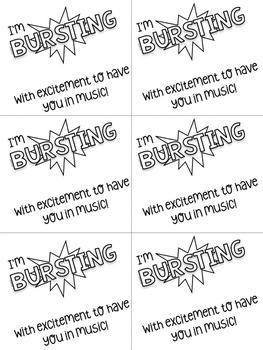 Bursting Music Candy Card