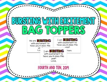 Bursting With Excitement Bag Topper
