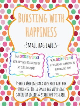 Bursting With Happiness - Label