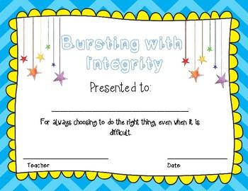 Bursting with Character Awards EOY Awards