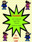 Bursting with Excitement Super Hero Themed Welcome Paper