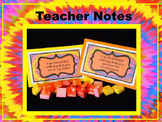 Bursting with Joy- Teacher's Welcome Notes