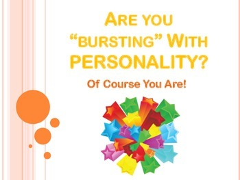 Bursting with Personality Starburst Getting to Know You Class Activity