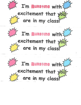 Bursting with excitement that you are in my class giveaways