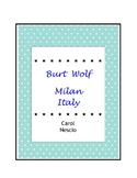 Burt Wolf ~ Milan Italy