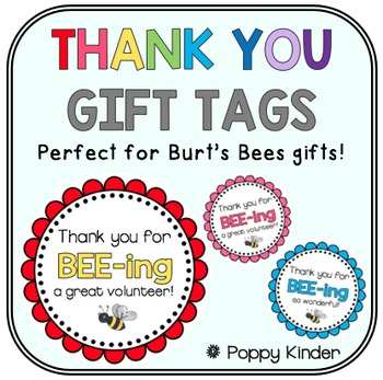 Burt's Bees Thank You Tags