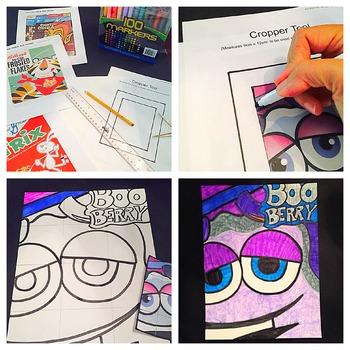 """Burton Morris-Inspired """"Pop Art Cereal Box Drawings"""" Lesson"""