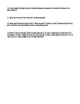 Bury My Heart at Wounded Knee Movie Worksheet