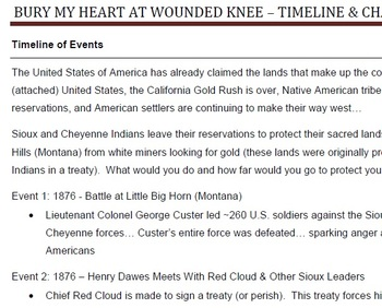 Bury My Heart at Wounded Knee Viewing Guide
