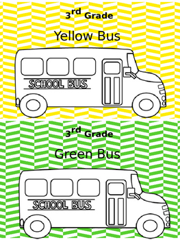 Bus & Afternoon Transportation Signs
