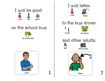 Bus Behavior-Adapted Book for Students with Disabilities
