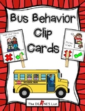 Bus Behavior Clip Cards
