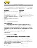 Bus Behavior Parent Letter