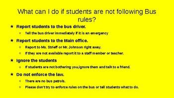 Bus Behavior Powerpoint