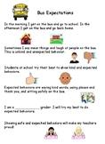 Bus Behavior Social Stories