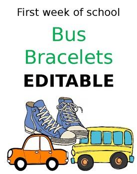 Bus Bracelets EDITABLE