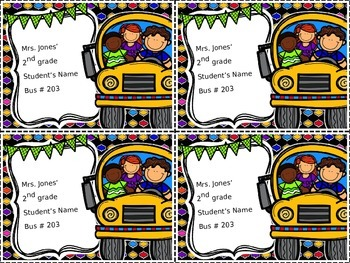 Bus Chart and Bus Tags
