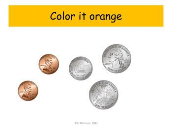 Bus Counting Coins Practice - Watch, Think, Color Mystery Pictures