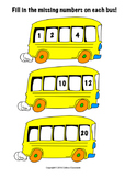 Bus Counting (Number recognition, number sequencing and wr