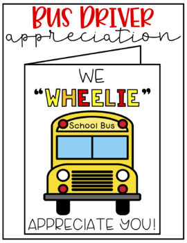 photo relating to Bus Driver Thank You Card Printable known as Bus Driver Appreciation Card