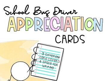 Bus Driver Appreciation Cards!