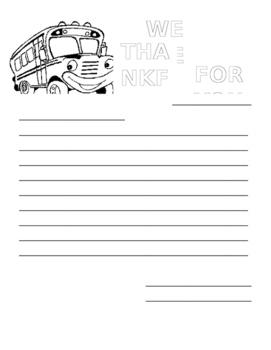 Bus Driver Appreciation Letter