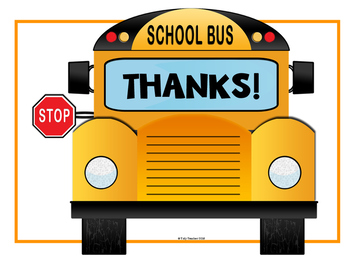 Bus Driver Appreciation Letter Freebie