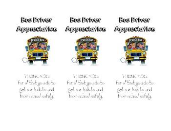 Bus Driver Appreciation Notes