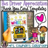 Bus Driver Appreciation Thank You Cards