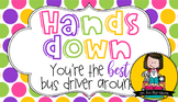 Bus Driver Gift Tag | Hands Down