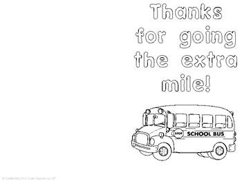 Bus Driver School Bus Card