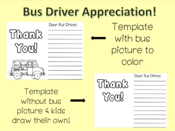 Bus Driver Thank you Appreciation Letter Template