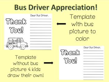 Bus driver thank you appreciation letter template by 3rd grade bus driver thank you appreciation letter template spiritdancerdesigns Images