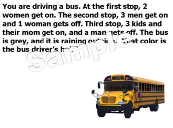 Bus Drivers Hair - Word Problem - Smart Highlighting
