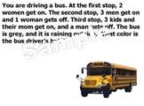 Bus Drivers Hair - Word Problem - Smart Highlighting