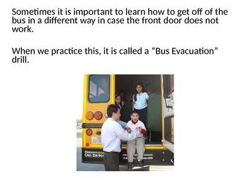 Bus Evacuation Drill Social Story