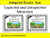Bus Expected and Unexpected Social Story Adapted Books