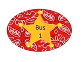 Bus Labels- Western Theme
