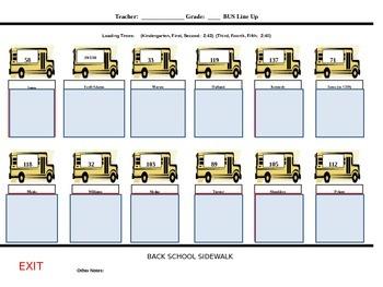 Bus Line Up Sheet