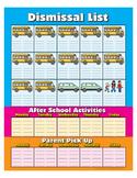 "Bus List Poster- 8½"" x 11"""